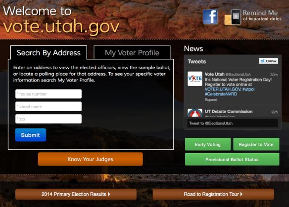 Utah Voter Registration
