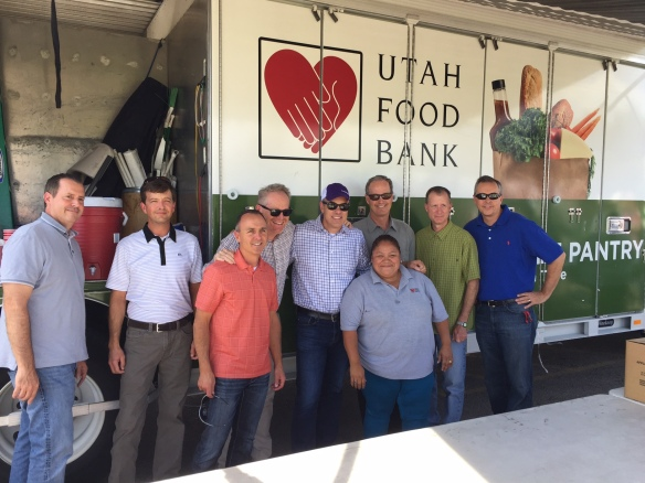 CHG's Executive Team volunteering at the Mobile Food Pantry at United Way of Salt Lake's Central Park Community Center